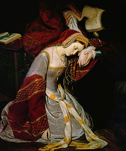 Anna Boleyn uwięziona wTower woczekiwaniu naegzekucję. ©Wikimedia Commons.
