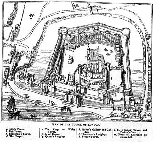 Plan Tower of London. © Wikimedia Commons