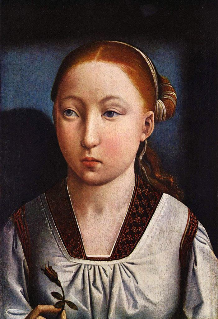 Portret Katarzyny Aragońskiej pędzla Juana de Flandesa. ©Wikimedia Commons.