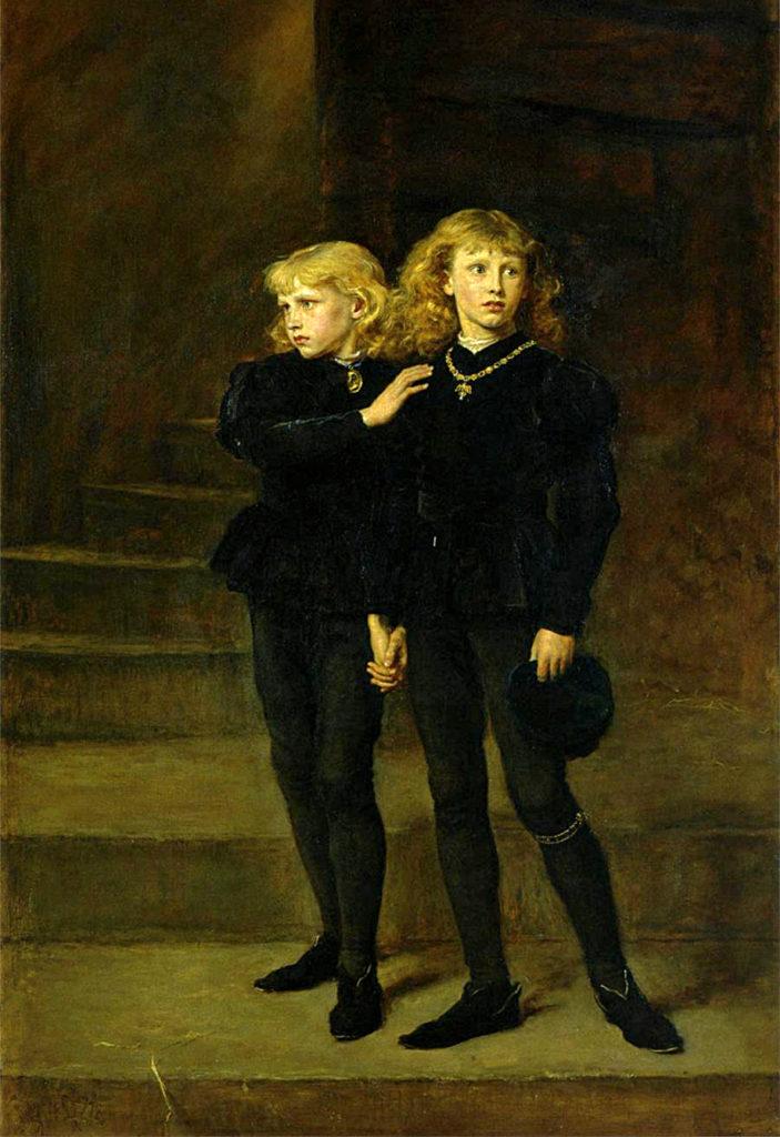 Synowie Edwarda IV wmurach Tower. ©Wikimedia Commons