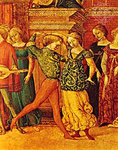 Para tańcząca galiardę. <br/>©Wikimedia Commons.