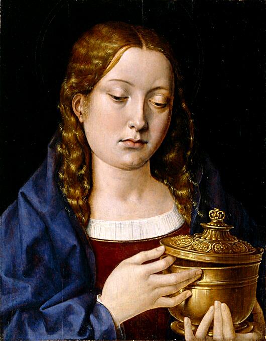 Pobożna Katarzyna ukazana naobrazie jako Maria Magdalena. ©Wikimedia Commons.
