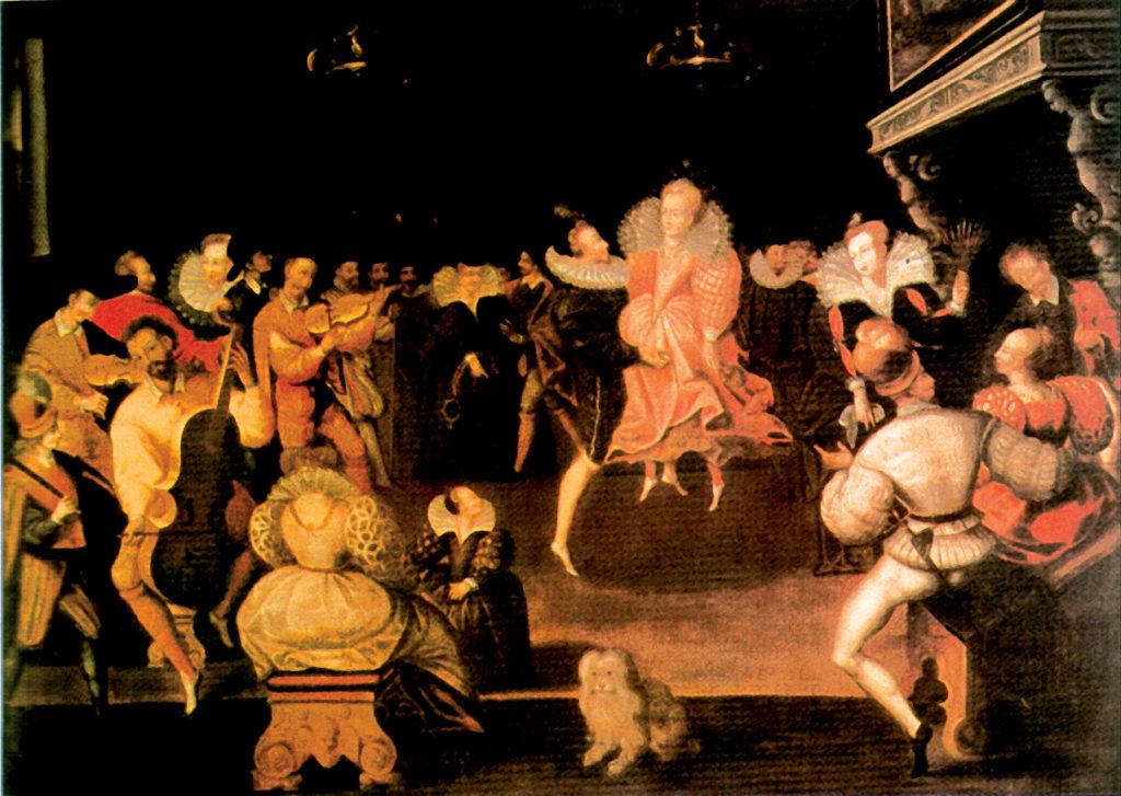 Elżbieta Itańczy voltę zRobertem Dudleyem. ©Wikimedia Commons.