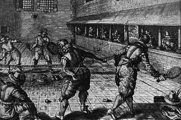 W Hampton Court Henryk VIII założył kort tenisowy. ©Wikimedia Commons; http://www.thetudortattler.com/2012/01/pastyme-with-good-companye-games.html
