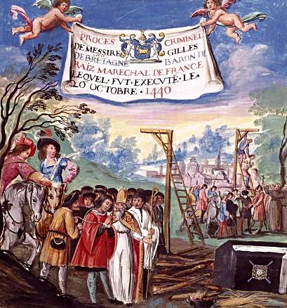 Egzekucja Gillesa de Rais. ©Wikimedia Commons.