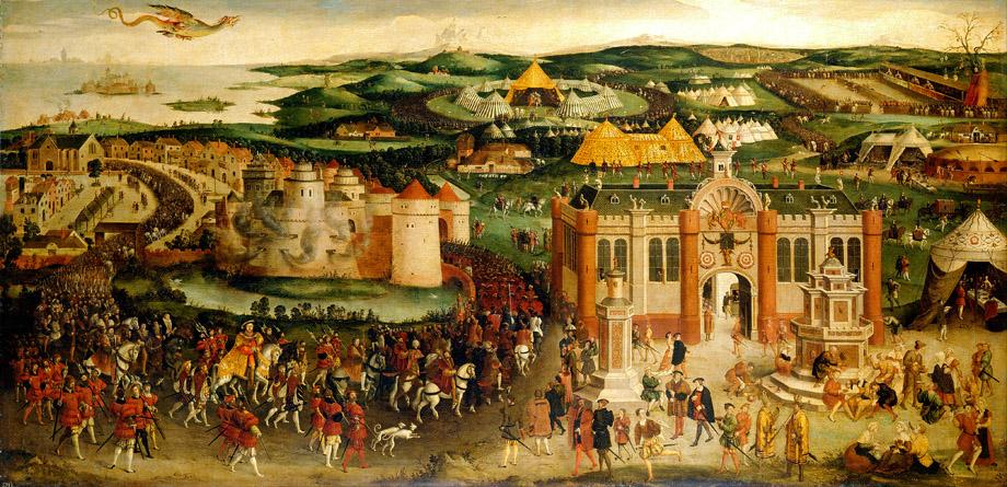 Historyczne spotkanie dwóch monarchów 7 czerwca 1520 roku. ©Wikimedia Commons.