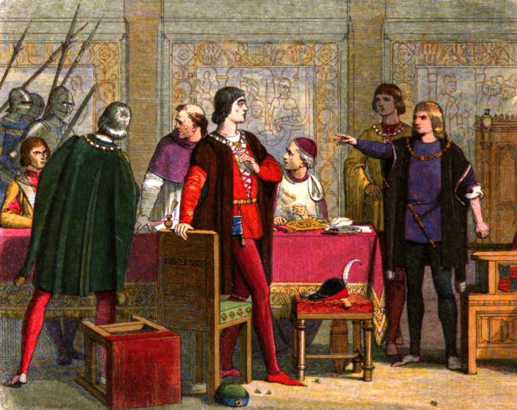 Ryszard, książę Gloucester, nakazuje aresztowanie Hastingsa. ©Wikimedia Commons.
