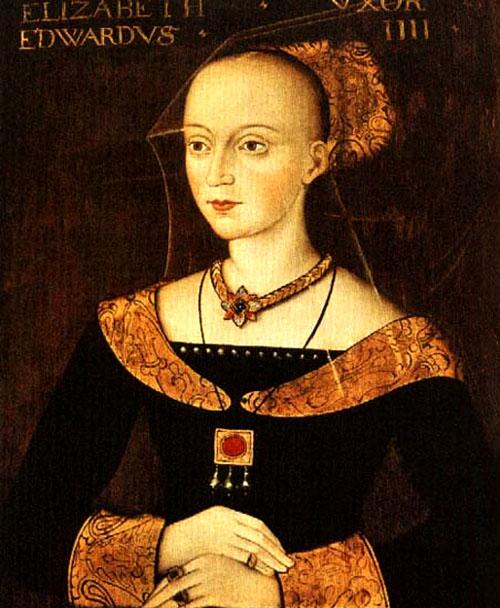 Królowa Elżbieta Woodville, portret pędzla nieznanego artysty. ©Wikimedia Commons.