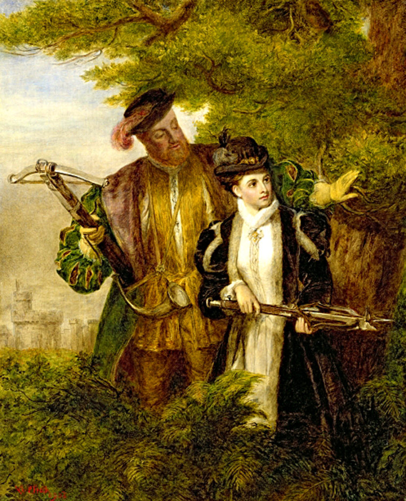 1.King_Henry_and_Anne_Boleyn_Deer_shooting_in_Windsor_Forest
