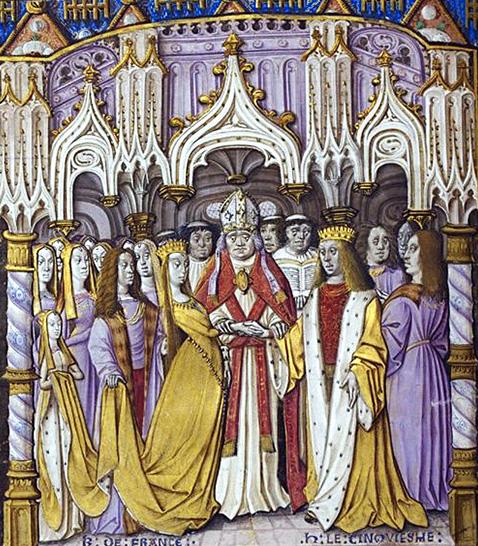 Katarzyna de Valois poślubia Henryka V. ©Wikimedia Commons.