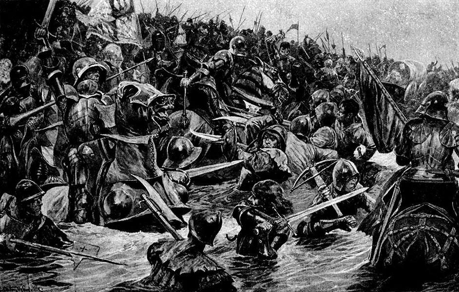 Armie ścierające się naśmierć iżycie podTowton. ©Wikimedia Commons.