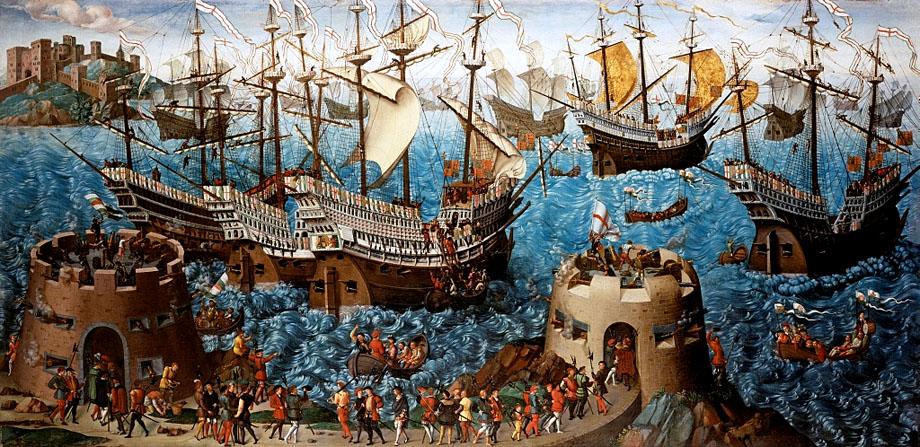 Henryk VIII wypływa zDover nasłynne Pole Złotogłowia. ©Wikimedia Commons.