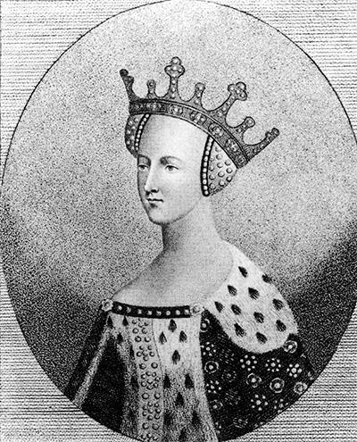 Portret królowej Katarzyny de Valois. ©Wikimedia Commons.