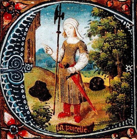 Joanna d'Arc – niepiśmienna wieśniaczka. ©Wikimedia Commons.