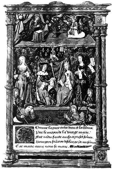 Ceremonia ślubna Marii Tudor ikróla Ludwika wAbbeville. ©Wikimedia Commons.