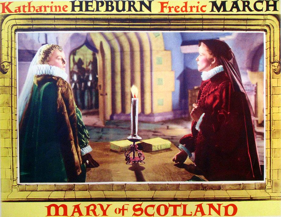 Pocztówki promujące film zudziałem Katharine Hepburn, Mary of Scotland. ©Wikimedia Commons.