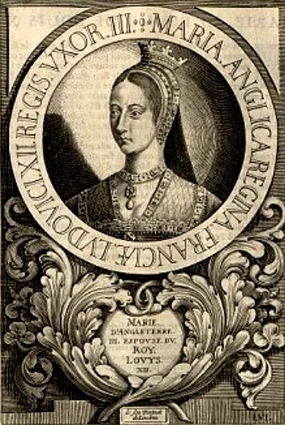 Rycina zwizerunkiem królowej Marii. ©Wikimedia Commons.
