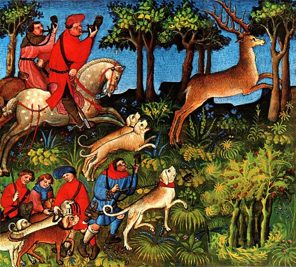Polowanie najelenia. ©Wikimedia Commons.