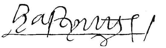 Sygnatura Williama Hastingsa. ©Wikimdia Commons.