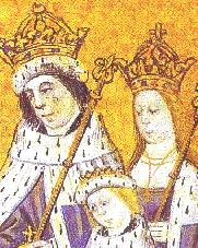 Para królewska: Edward IV iElżbieta, zeswoim starszym synem. ©Wikimedia Commons.