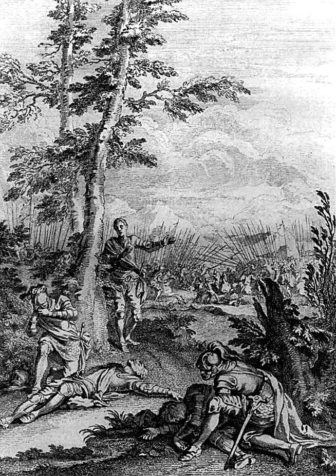 Walczący odnajdują swoich bliskich poległych podczas bitwy. ©Wikimedia Commons.
