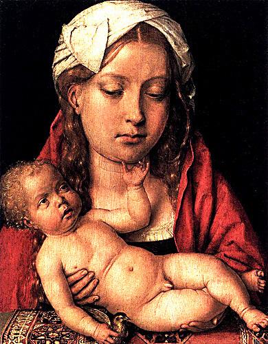Katarzyna Argońska zsynem jako Madonna zDzieciątkiem. ©Wikimedia Commons.