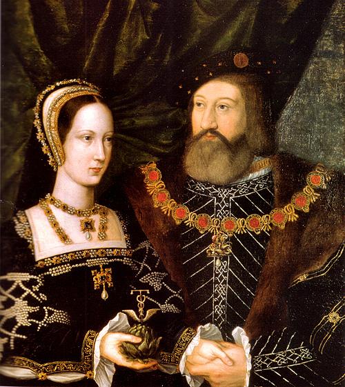 Maria Tudor iKarol Brandon, książę Suffolk, jej drugi mąż. ©Wikimedia Commons.