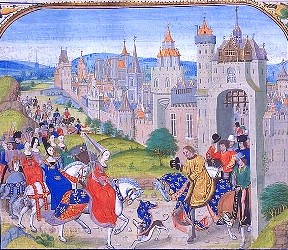 Królowa Izabela przybywa doFrancji. ©Wikimedia Commons.