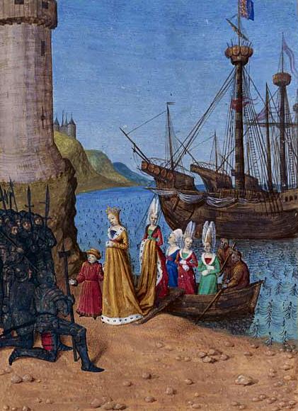 Izabela Francuska witana naangielskiej ziemi. ©Wikimedia Commons.
