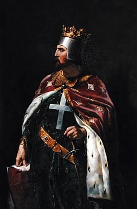 Jeden zwizerunków Ryszarda Lwie Serce. ©Wikimedia Commons.