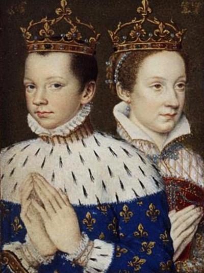Maria Stuart, królowa Szkotów, zmężem Franciszkiem II, królem Francji. ©Wikimedia Commons.