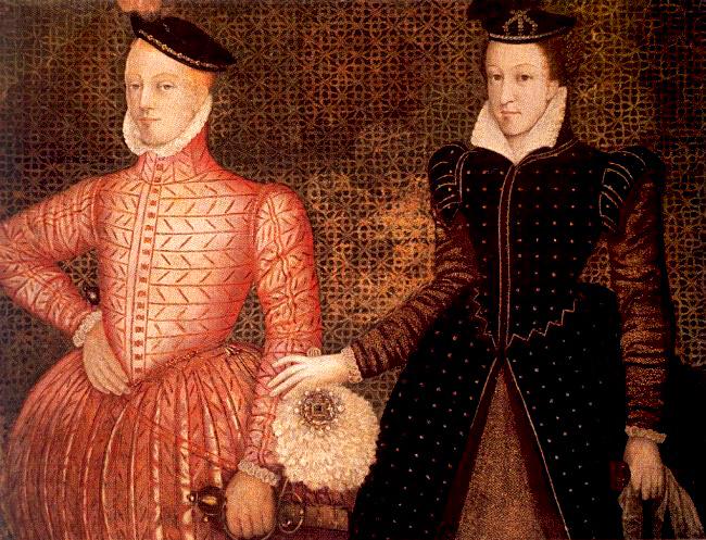 Królowa Maria zdrugim mężem, Henrykiem Stuartem, lordem Darnley. ©Wikimedia Commons.