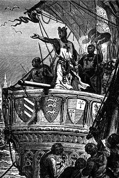 Ryszard Lwie serce przybywa doZiemi Świętej. ©Wikimedia Commons.