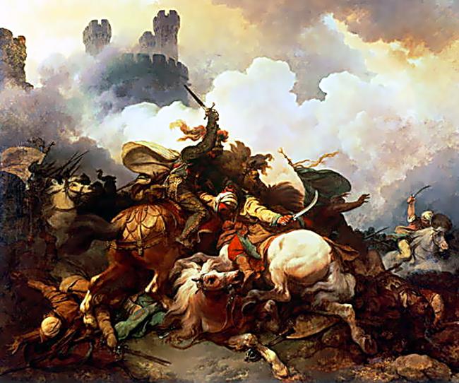 Ryszard Lwie Serce walczy wPalestynie. ©Wikimedia Commons.