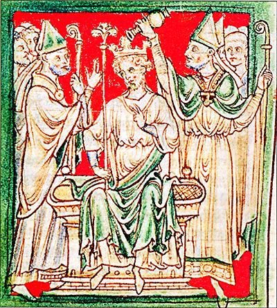 Koronacja Ryszarda wopactwie westminsterskim. ©Wikimedia Commons.