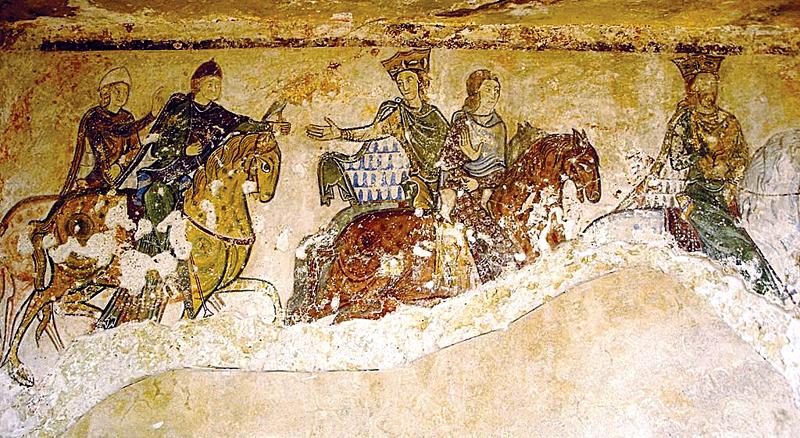 Fragment fresku zwizerunkiem Eleonory. ©Wikimedia Commons.