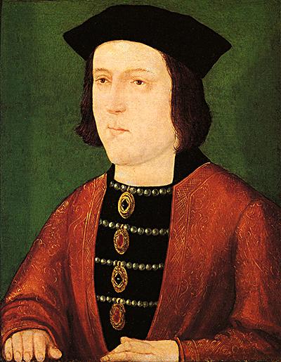 Król Edward IV, ojciec królewny Elżbiety. ©Wikimedia Commons.