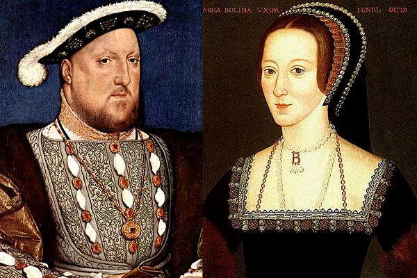 Henryk VIII ijego druga żona, Anna Boleyn – rodzice królowej Elżbiety I. ©Wikimedia Commons.