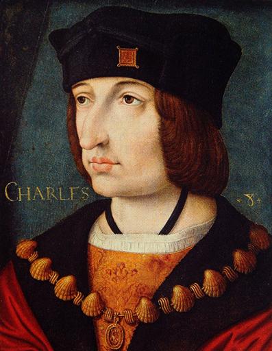 Karol VIII, niedoszły małżonek Elżbiety York. ©Wikimedia Commons.