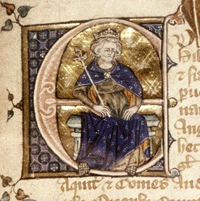 Miniatura ukazująca Edwarda II. Czynieszczęsny król faktycznie zginął wokrutnych męczarniach? ©Wikimedia Commons.