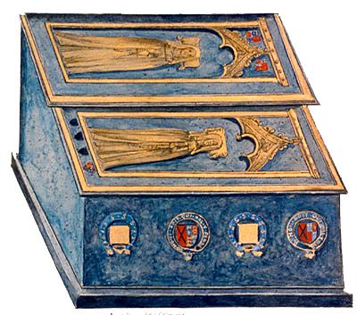 6. Rysunek przedstawiający grobowiec Kaatrzyny Swynford ijej córki Joan. ©Wikimedia Commons.