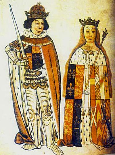 Według źródeł, król Ryszard ikrólowa Anna darzyli Elżbietę wielką sympatią izapewnili godne życie naswoim dworze. ©Wikimedia Commons.