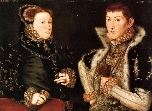 Obraz przedstawiający lady Dacre ijej syna, Gregory'ego Fiennes, pierwotnie identyfikowany jako portret Franciszki Grey ijej drugiego męża, Adriana Stokes'a. ©Wikimedia Commons.