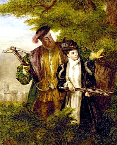 Henryk uwielbiał polowania iwyprawy wleśną głuszę – także wtowarzystwie Anny Boleyn, którarównież była miłośniczką łowów. ©Wikimedia Commons.
