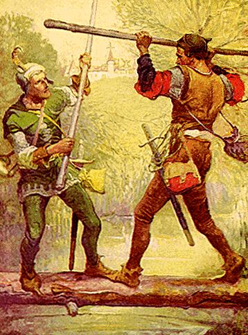 Robin Hood iMały John – najpopularniejsi średniowieczni banici. ©Wikimedia Commons.