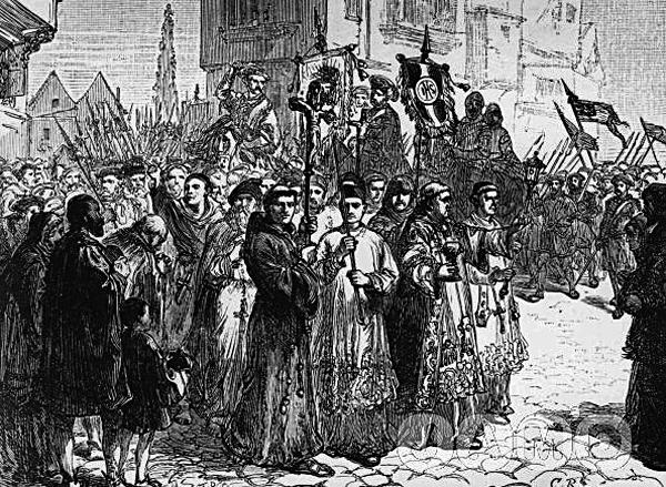 Pielgrzymka Łaski była wyrażnym dowodem nato, żeAnglicy niegodzą się naprzemiany religijne wswoim kraju. ©Wikimedia Commons.