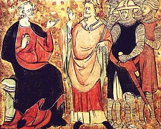 Król Anglii Henryk II iTomasz Becket, arcybiskup Canterbury. ©Wikimedia Commons.