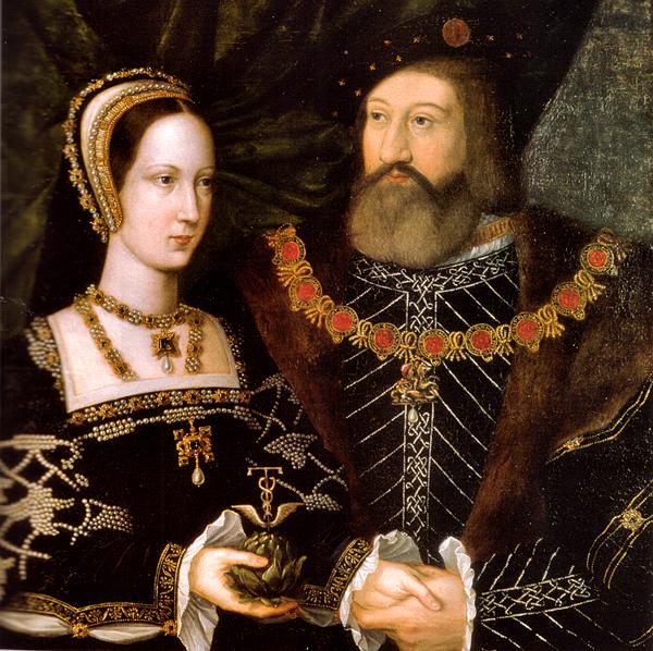 Portret Marii Tudor ijej drugiego męża, Karola Brandona. ©Wikimedia Commons.