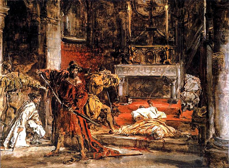 Zabójstwo św.Stanisława ukazane naobrazie pędzla Jana Matejki. ©Wikimedia Commons.