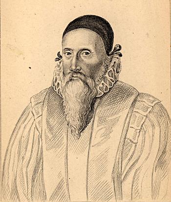 Portret Johna De – filozofa iastrologa. ©Wikimedia Commons.
